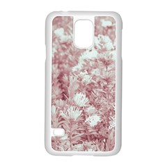 Pink Colored Flowers Samsung Galaxy S5 Case (white)