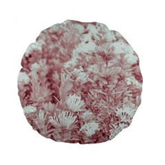 Pink Colored Flowers Standard 15  Premium Flano Round Cushions