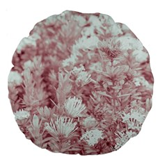 Pink Colored Flowers Large 18  Premium Flano Round Cushions