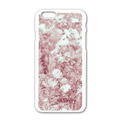 Pink Colored Flowers Apple Iphone 6/6s White Enamel Case
