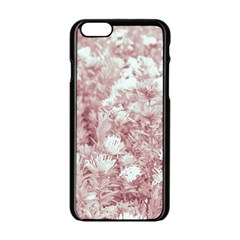 Pink Colored Flowers Apple Iphone 6/6s Black Enamel Case