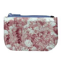 Pink Colored Flowers Large Coin Purse