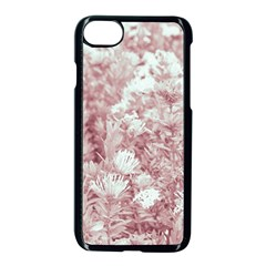 Pink Colored Flowers Apple Iphone 7 Seamless Case (black)
