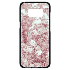 Pink Colored Flowers Samsung Galaxy S8 Black Seamless Case