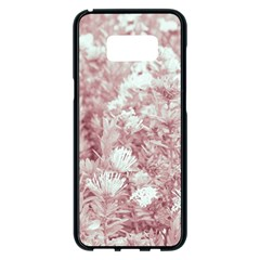 Pink Colored Flowers Samsung Galaxy S8 Plus Black Seamless Case