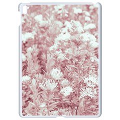 Pink Colored Flowers Apple Ipad Pro 9 7   White Seamless Case