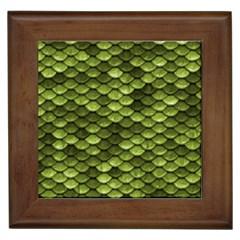 Green Mermaid Scales   Framed Tiles