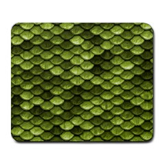Green Mermaid Scales   Large Mousepads
