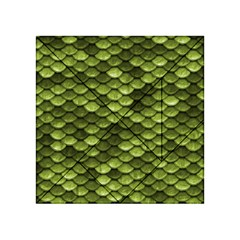 Green Mermaid Scales   Acrylic Tangram Puzzle (4  X 4 )