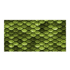 Green Mermaid Scales   Satin Wrap