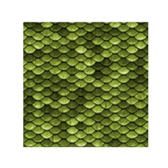 Green Mermaid Scales   Small Satin Scarf (square)