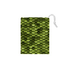 Green Mermaid Scales   Drawstring Pouches (xs)