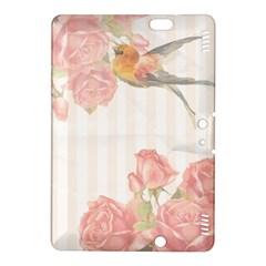 Vintage Roses Floral Illustration Bird Kindle Fire Hdx 8 9  Hardshell Case