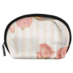 Vintage Roses Floral Illustration Bird Accessory Pouches (large)