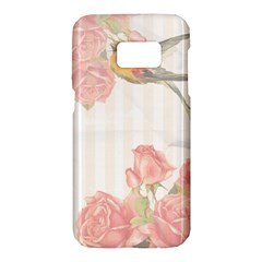 Vintage Roses Floral Illustration Bird Samsung Galaxy S7 Hardshell Case