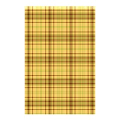 Plaid Yellow Fabric Texture Pattern Shower Curtain 48  X 72  (small)