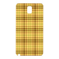 Plaid Yellow Fabric Texture Pattern Samsung Galaxy Note 3 N9005 Hardshell Back Case