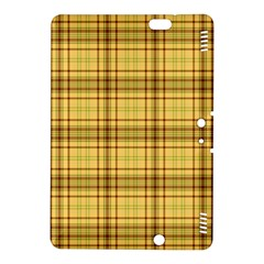 Plaid Yellow Fabric Texture Pattern Kindle Fire Hdx 8 9  Hardshell Case