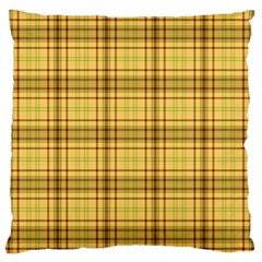 Plaid Yellow Fabric Texture Pattern Standard Flano Cushion Case (one Side)