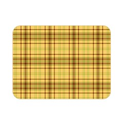 Plaid Yellow Fabric Texture Pattern Double Sided Flano Blanket (mini)
