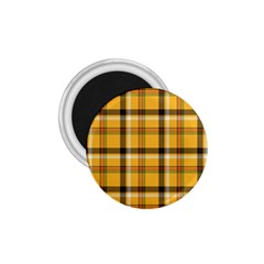 Yellow Fabric Plaided Texture Pattern 1 75  Magnets