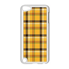 Yellow Fabric Plaided Texture Pattern Apple Ipod Touch 5 Case (white)