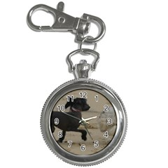 2 Chinese Crested Playing Key Chain Watches