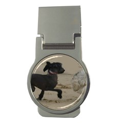 2 Chinese Crested Playing Money Clips (round)