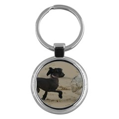 2 Chinese Crested Playing Key Chains (round)