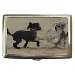 2 Chinese Crested Playing Cigarette Money Cases