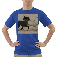 2 Chinese Crested Playing Dark T Shirt