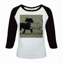 2 Chinese Crested Playing Kids Baseball Jerseys