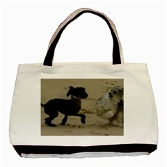 2 Chinese Crested Playing Basic Tote Bag