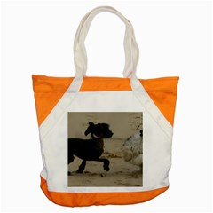 2 Chinese Crested Playing Accent Tote Bag
