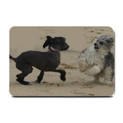 2 Chinese Crested Playing Small Doormat