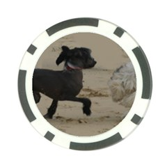 2 Chinese Crested Playing Poker Chip Card Guard