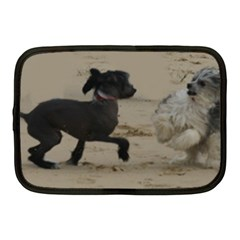 2 Chinese Crested Playing Netbook Case (medium)