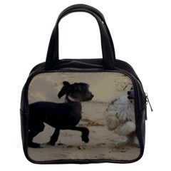 2 Chinese Crested Playing Classic Handbags (2 Sides)