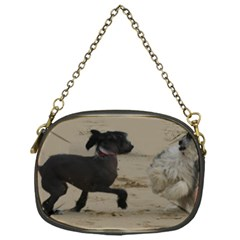 2 Chinese Crested Playing Chain Purses (one Side)