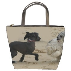 2 Chinese Crested Playing Bucket Bags