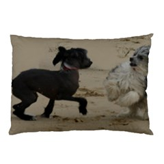 2 Chinese Crested Playing Pillow Case