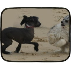 2 Chinese Crested Playing Double Sided Fleece Blanket (mini)