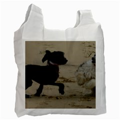 2 Chinese Crested Playing Recycle Bag (two Side)