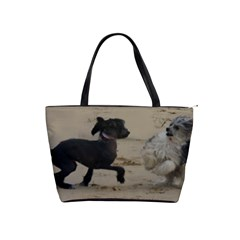 2 Chinese Crested Playing Shoulder Handbags