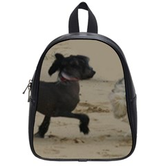 2 Chinese Crested Playing School Bag (small)