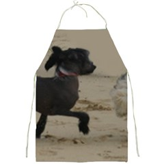 2 Chinese Crested Playing Full Print Aprons
