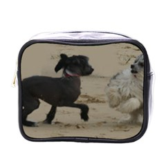2 Chinese Crested Playing Mini Toiletries Bags