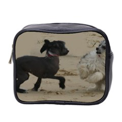 2 Chinese Crested Playing Mini Toiletries Bag 2 Side