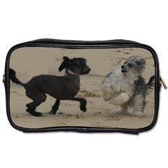2 Chinese Crested Playing Toiletries Bags 2 Side