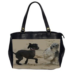 2 Chinese Crested Playing Office Handbags (2 Sides)